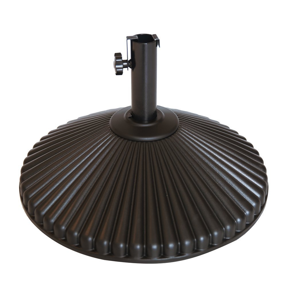 Abba Patio 50 lbs Round Patio Umbrella Base Recyclable Plastic 23.4 inch Diameter Outdoor Umbrella Stand Holder, Black