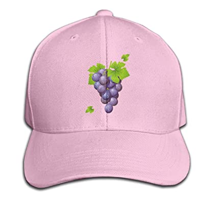 Mr.Roadman Unisex Grape with Leaves Funny Logo Baseball Hip-hop Cap Vintage Adjustable Hats Cotton Trucker Caps for Women and Men Pink,One Size