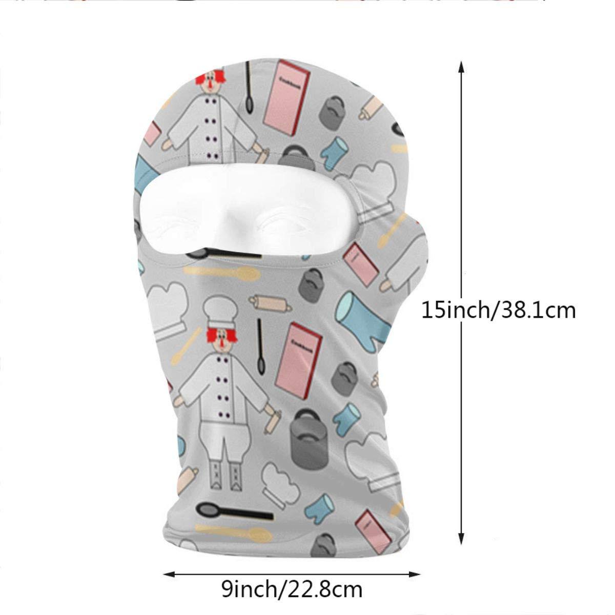LaoJi Busy Cook Winter Ski Mask Balaclava Hood Wind-Resistant Face Mask
