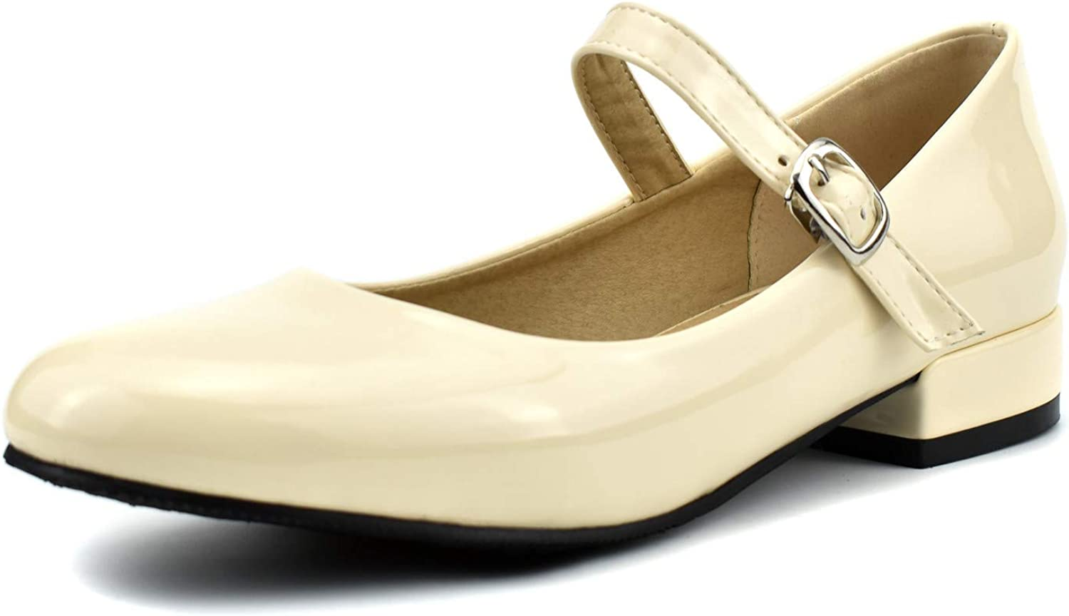 100FIXEO Women Ankle Strap Mary Janes
