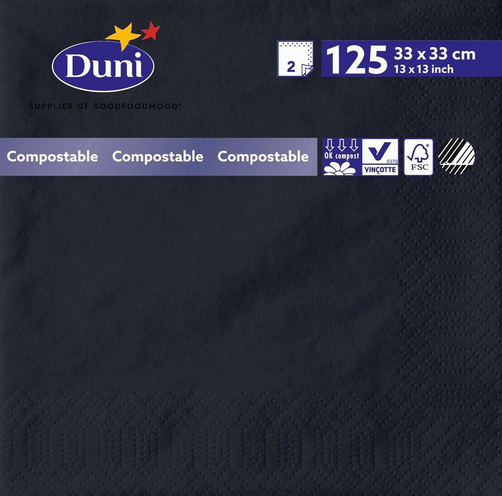 Pack de 2000 33/cm x 33/cm negro Duni 151803/de papel Tejido servilletas