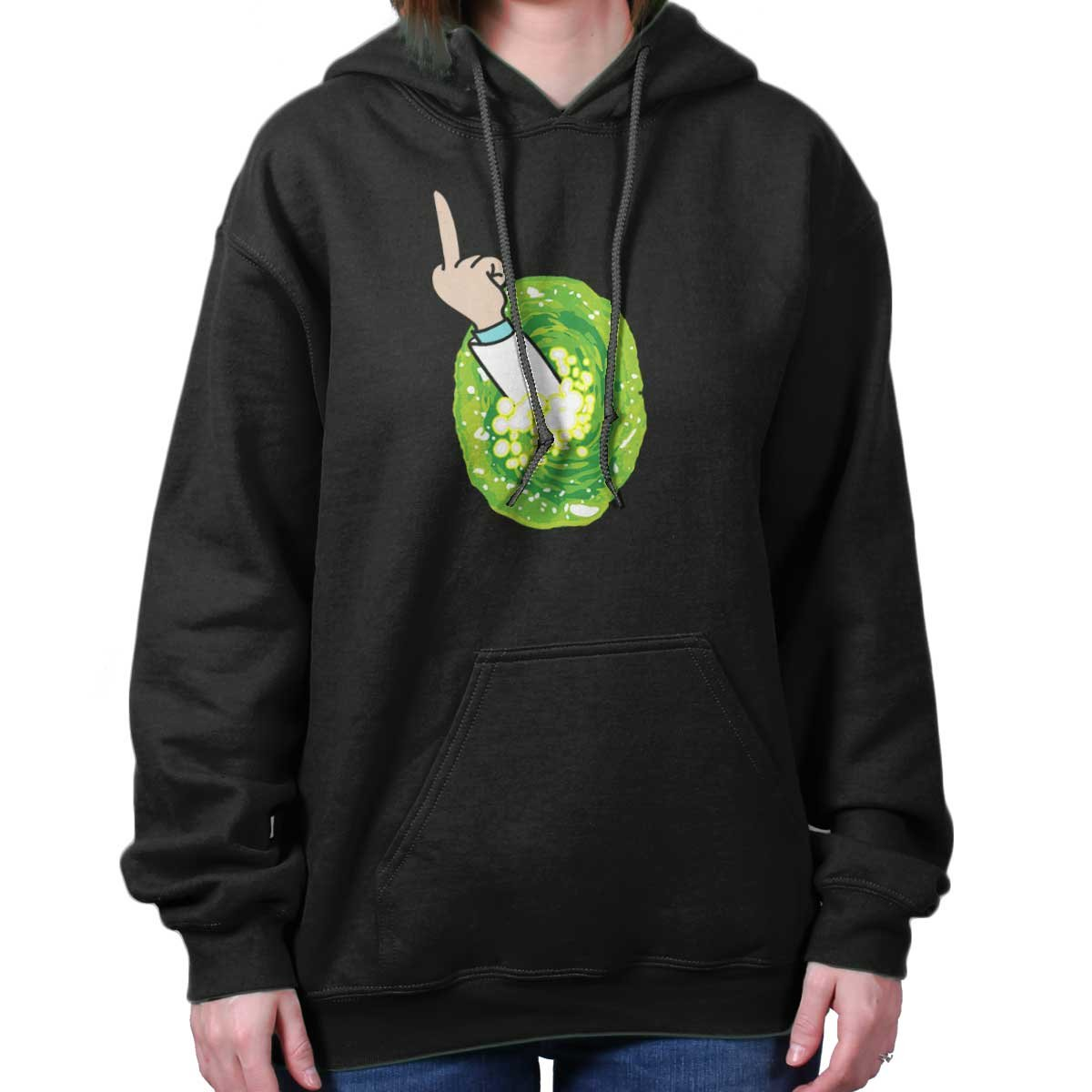 Brisco Brands Portal Rick Sanchez Schwifty Cool Funny Morty GLIP Glop Edgy Hoodie Sweatshirt by Brisco Brands (Image #4)
