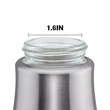 Compra Toogou 304 Acero inoxidable Aceite de oliva bottle-all hecho de Material de grado de alimentos dispensador de aceite, servicio de mesa para vinagre, ...