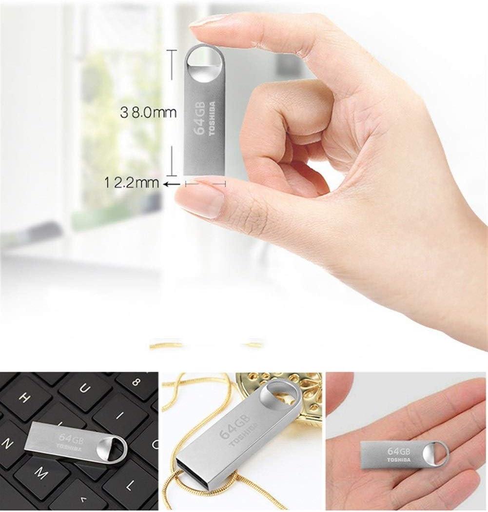 Silver Durable HENGTONGTONGXUN USB Flash Drive USB2.0 Memory Stick 8gb//16gb//32gb//64gb Capacity : 4GB Metal Waterproof Flash Drive