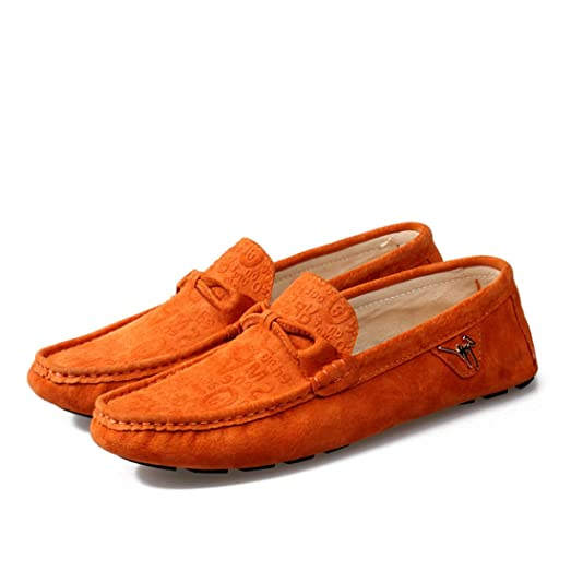 Suede Leather Men's Oxfords No-Slip Loafer Driving Moccasins shoes