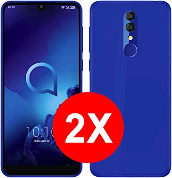 TBOC 2X Funda de Gel TPU Azul para Alcatel 3 2019: Amazon.es: Electrónica