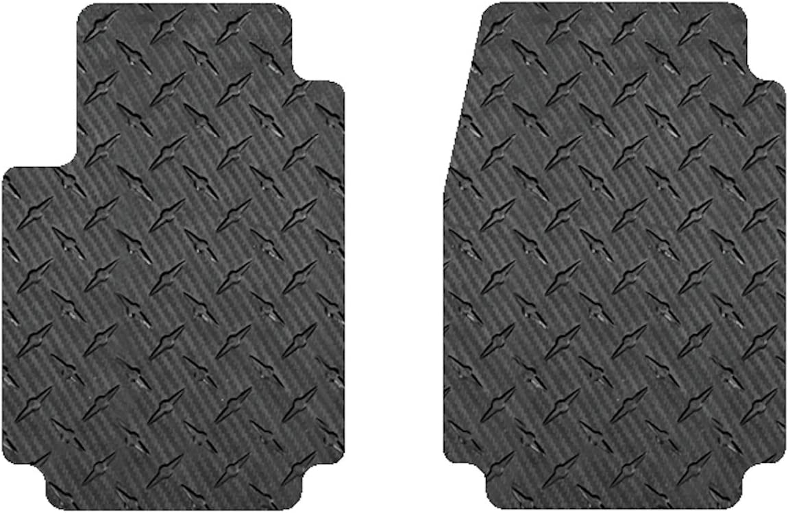Intro-Tech AR-111-CF Carbon Fiber Front Row 2 pc. Custom Fit Auto Floor Mats for Select Alfa Romeo Quadrifoglio Models-Simulated