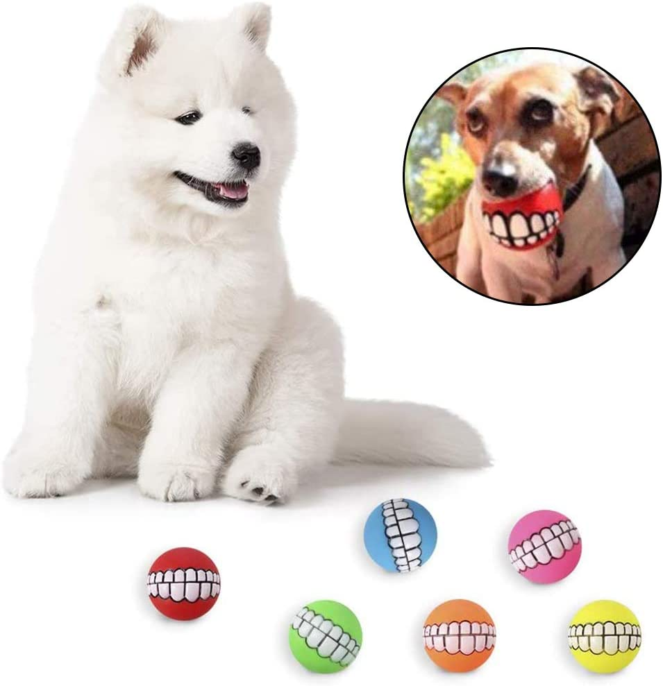 FANDE Pelota Perro 6 Piezas Juguetes Chirriantes para Perros L/átex Suave Juguete de Goma para Masticar Juguetes de l/átex Blandos para Perro