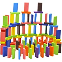 Blossom 120 pcs Colorful Wooden Domino Set for Kids / Colourful Wooden Dominos Toy…