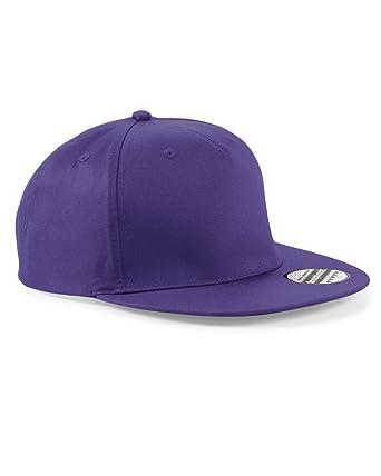 710cd09d8f897 Beechfield Casquette Rappeur Couleurs Assorties - Violet - Large