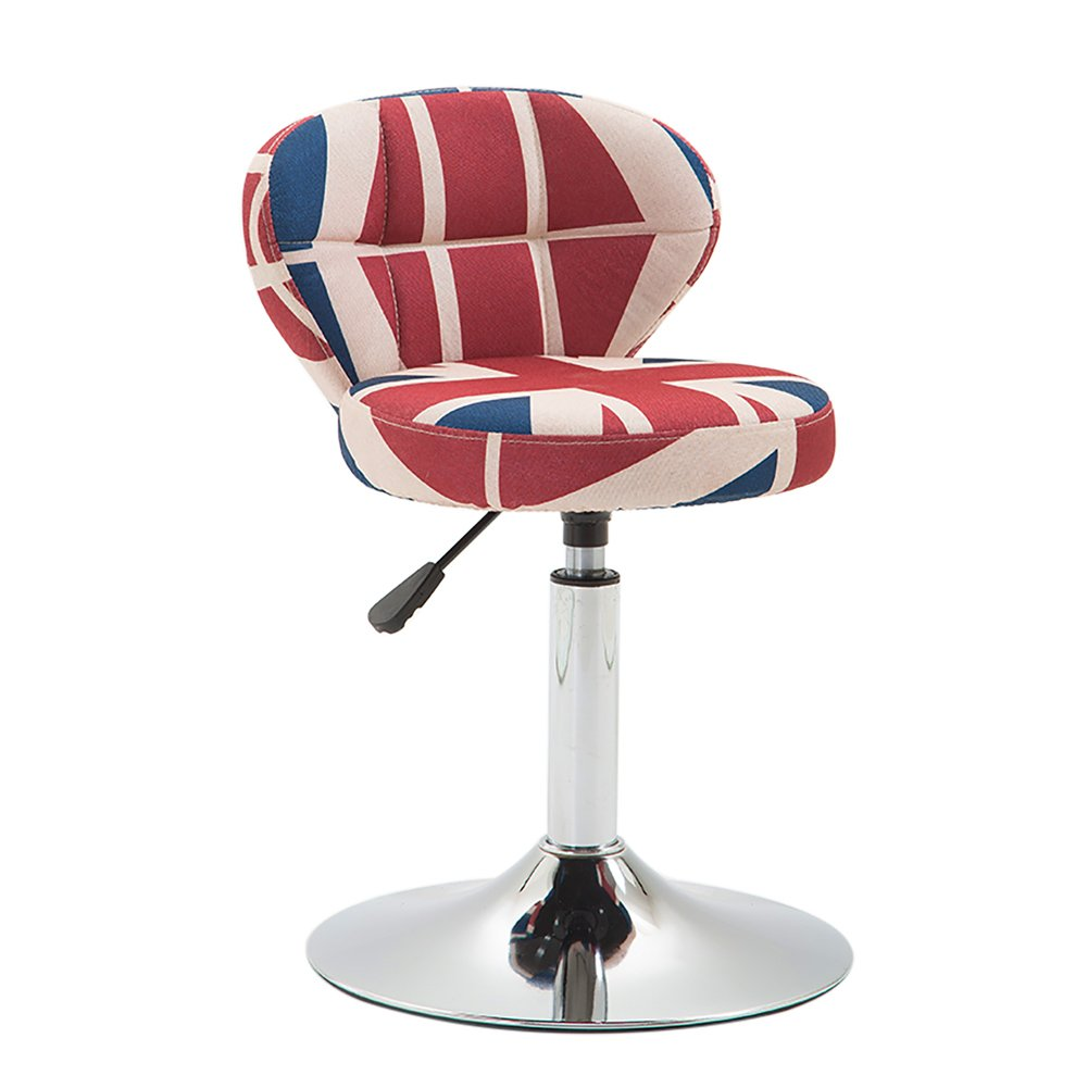 M 42-56cm NNN- Beauty Roller Stool Swivel Chair,Adjustable Height,Cotton and Linen,360 Degree redation,10 cm Cushion, 4 Colours (color   Tower, Size   42-56cm)