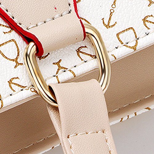 Bag Handbag Shoulder Arrow Set Large Bags Pattern Crossbody Wallet White Tote Capacity Kairuun Women 6 SUwnq1