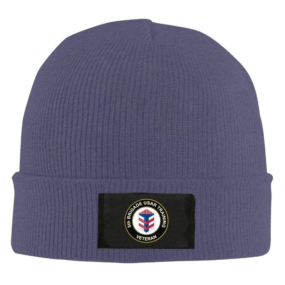 FORDSAN CP US Army 5th Brigade USAR Training Veteran Mens Beanie Cap Skull Cap Winter Warm Knitting Hats