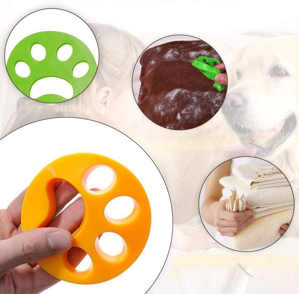 Ototon Poil Machine /à Laver Boule Poil Animaux Nettoyage Outil Anti Poil pour Nettoyer Poils danimaux Domestiques Cheveux 2pcs