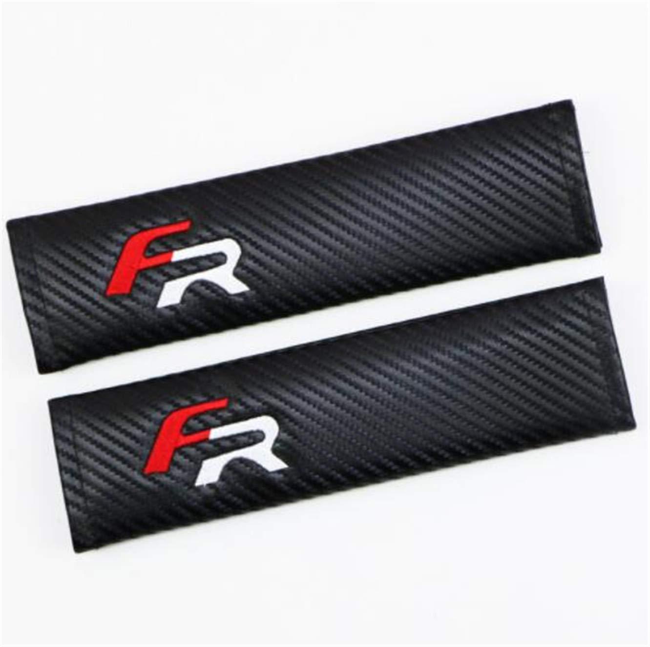 Bordado para cintur/ón de Seguridad de Coche Almohadilla para Racing hombreras para FR 888 2 Piezas de Fibra de Carbono