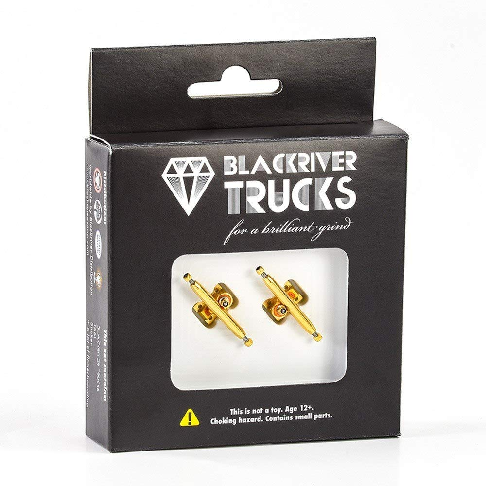 Blackriver X-Wide 2.0 Fingerboard Trucks - 34mm (Gold/Gold) by Blackriver Ramps (Image #3)