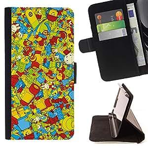 Momo Phone Case / Flip Funda de Cuero Case Cover - Wallpaper Juguetes para ni?os coloridos Reproducción - Samsung Galaxy Note 5 5th N9200