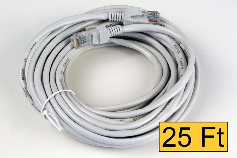 CAT5E 25 Feet Lan Network Ethernet Cable RJ45 8P8C lot
