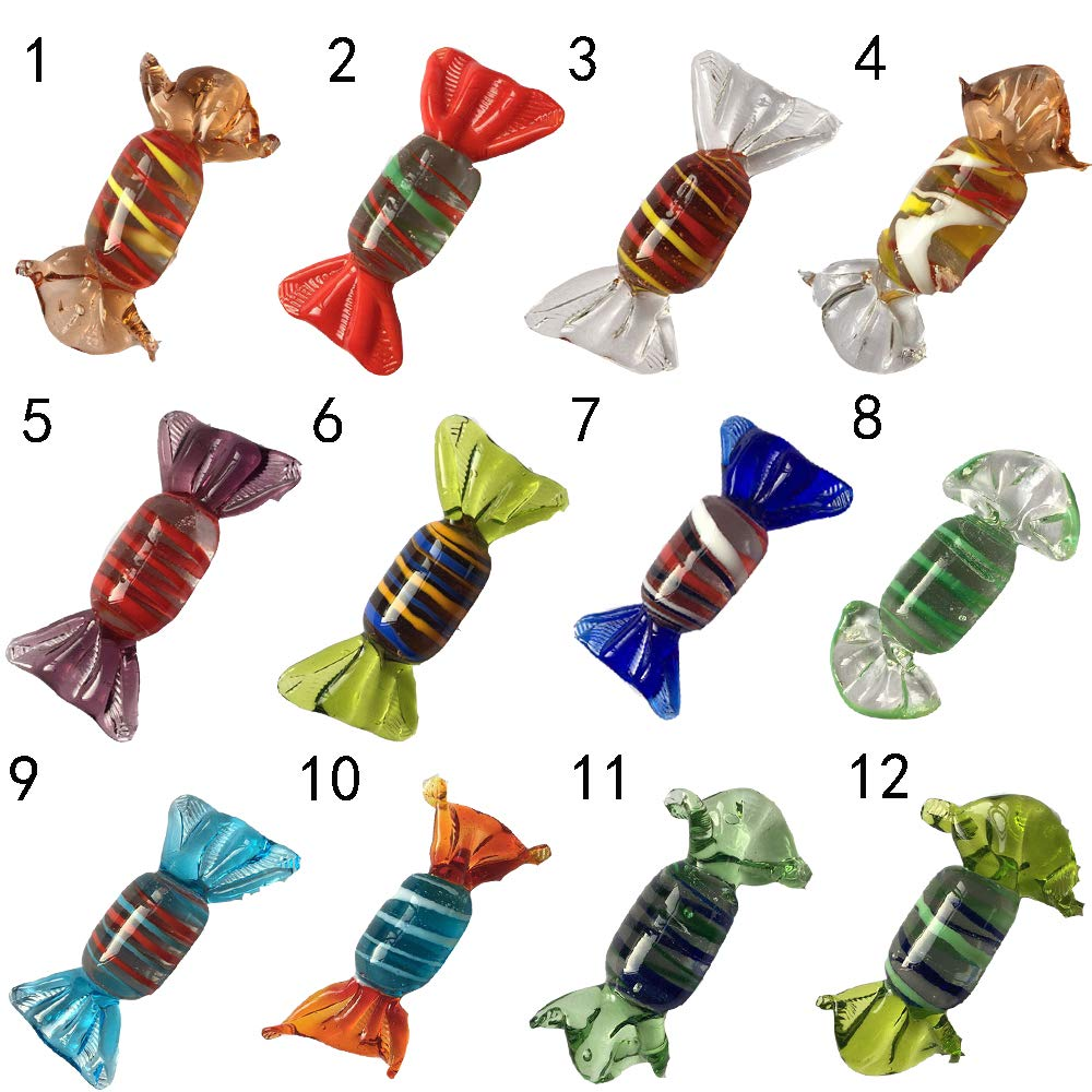 opearey Glass Sweets Candy for Christmas Decorations Vintage Murano Style Wedding Festiva Party Ornament DIY Craft 1