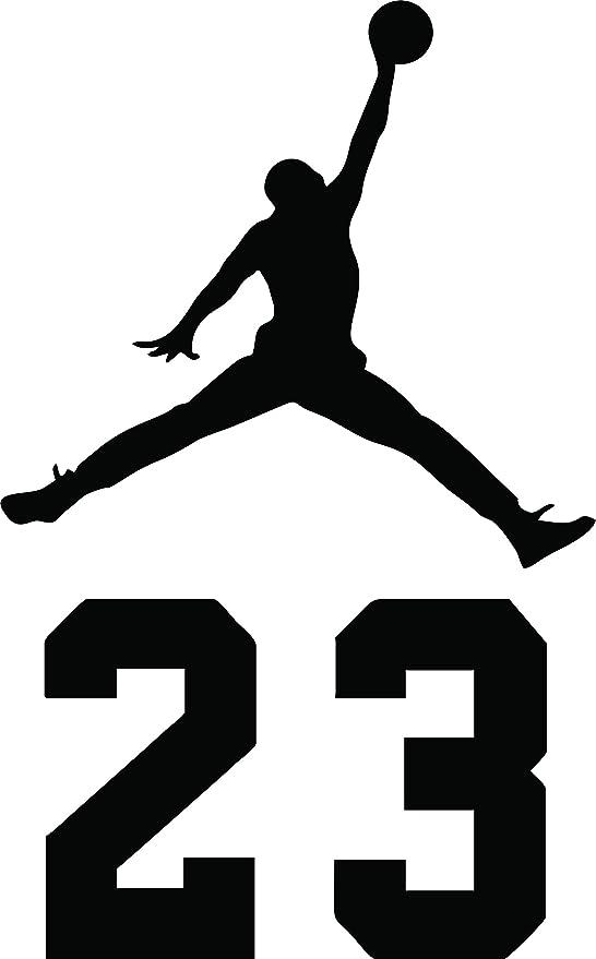 greatman Air Jordan Nike Jumpman Logo Vinyl Sticker Decal-Black-6 Inch