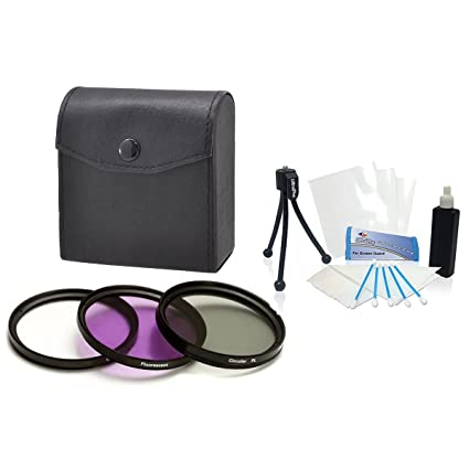55mm Digital High-Resolution Filter Kit (UV, CPL, FLD) with Deluxe Filter  Carry Case for Sony FDR-AX53 Digital Camera  UltraPro Deluxe Accessory Set