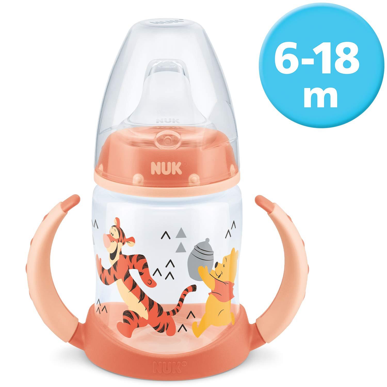 Biber/ón de aprendizaje con tetina de silicona y dise/ño de Winnie the Pooh naranja NUK