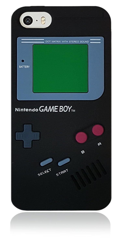 Amazon.com: for iPhone 5 5S SE Cartoon Gameboy 3D Case, Soft ...