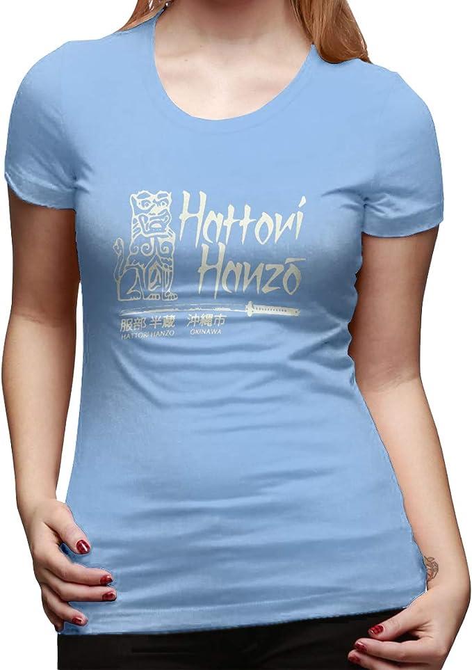 Aosepangpi Hanzo - Camiseta de Manga Corta para Mujer (algodón ...