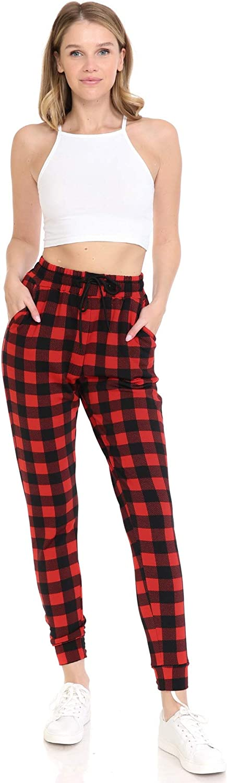 BAT1 S-3X Leggings Depot Womens Popular Print High Waist Premium Jogger Track Pants