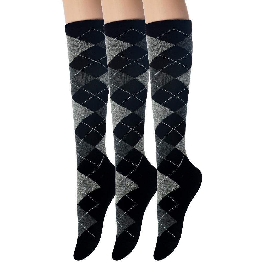 a0161ad986a Sockstheway Womens Casual Knee High Socks - Heart Argyle Vintage Loepard  Pattern Style at Amazon Women s Clothing store