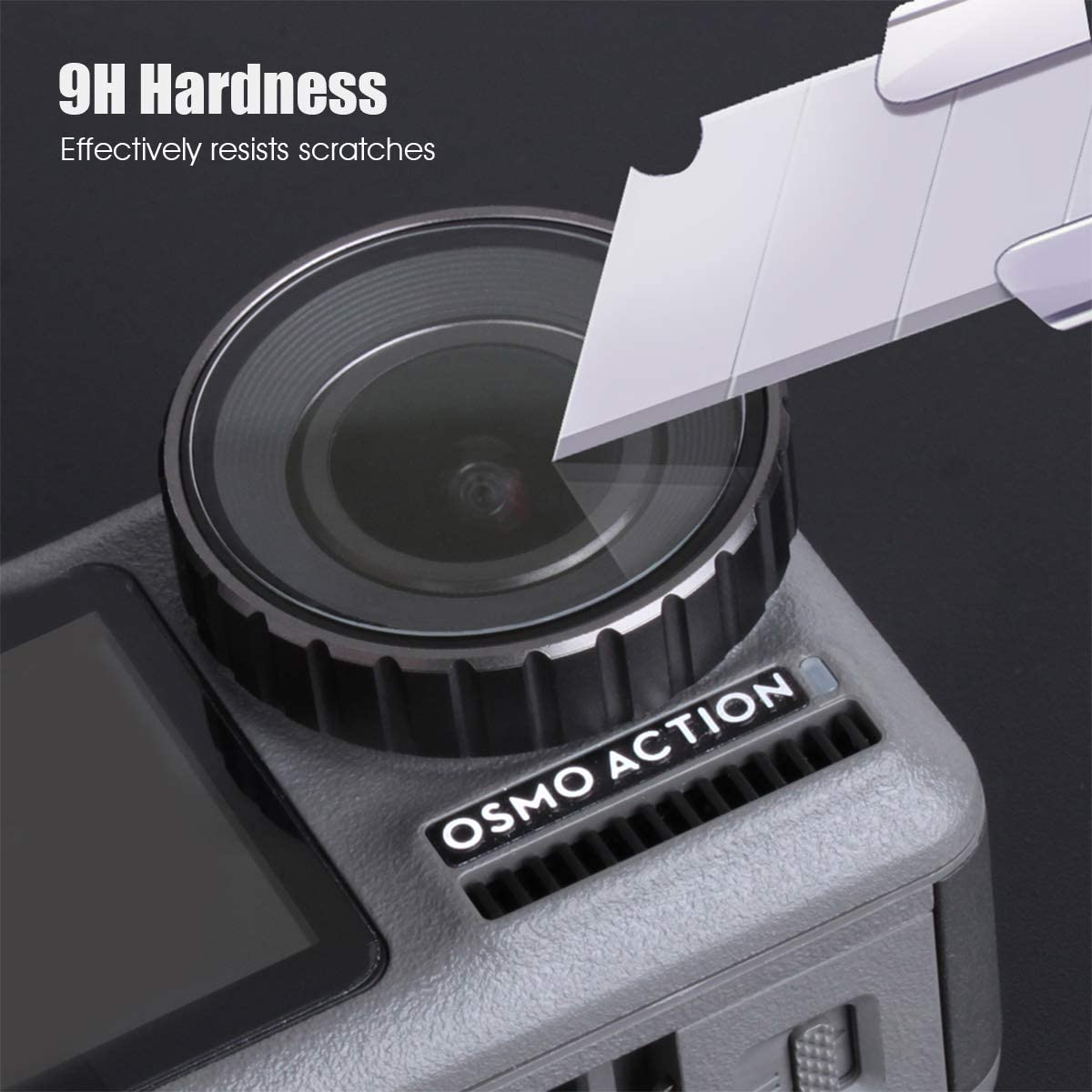 AuyKoo 6pcs Ultra Clear Anti-Scratch Screen Protector for DJI OSMO Action Camera 9H Hardness Tempered Glass Protector Film Cover for Osmo Action Camera Back /& Front LCD Screens and Lens