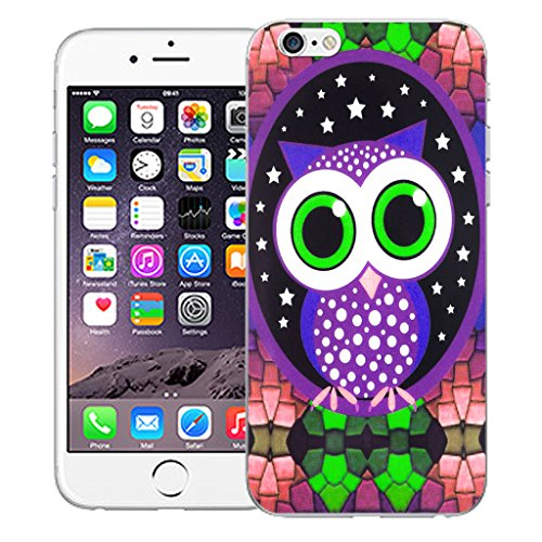 "Mobile Case Mate iPhone 6 Plus 5.5"" Silicone Coque couverture case cover Pare-chocs + STYLET - Mozaic Owl pattern (SILICON)"