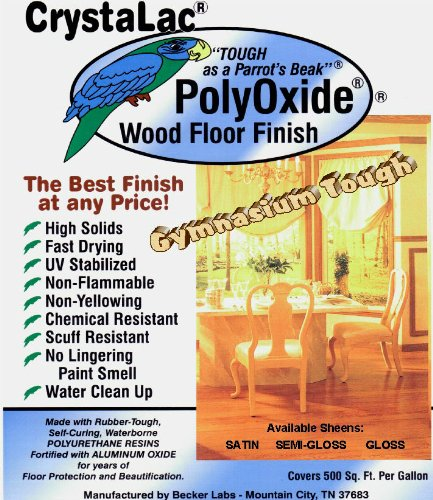 CrystaLac PolyOxide Wood Floor Finish (Satin) Gallon by CrystaLac (Image #3)