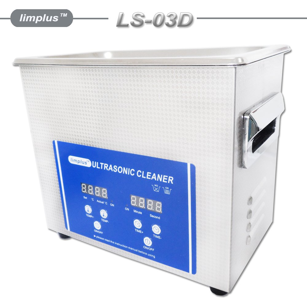 limplus 3Liter Ultrasonic Cleaner Jewelry Watch Eyeglasses Heater Function 40kHz with Basket by limplus