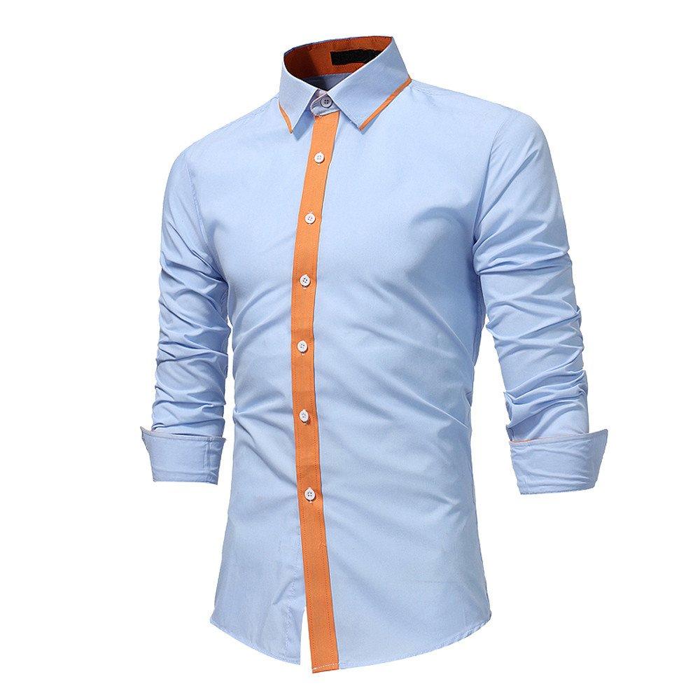 Winwintom -Camisas Hombre Manga Larga, Blusa Suelta Casual ...