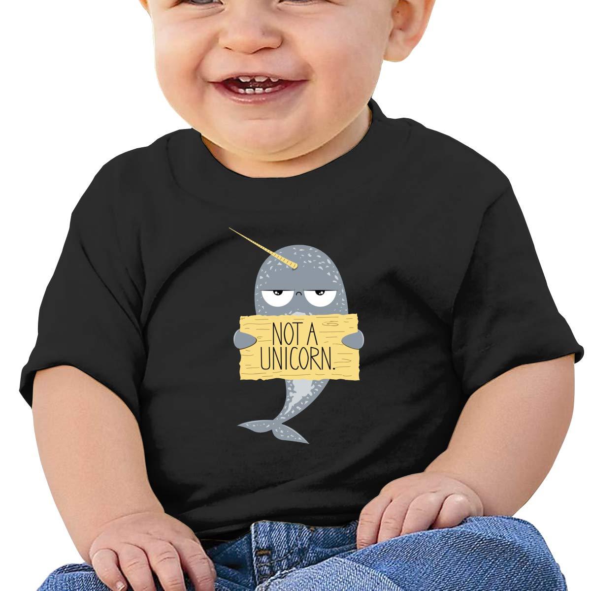 SakanpoIm Not A Unicorn Toddler//Infant Short Sleeve Cotton T Shirts Black