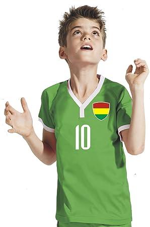 Aprom-Sports Bolivia Niños Pantalones – Camiseta del surtidor Incluye Impresión Nombre Personalizado + nº