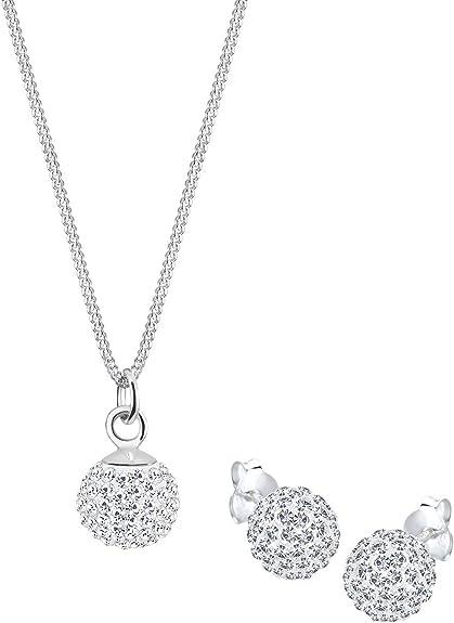 Elli - Parure Collier et Boucles d'Oreilles - Femme - Cristal Swarovski -  Argent - 925/1000 - 0905130411_45 - 45cm