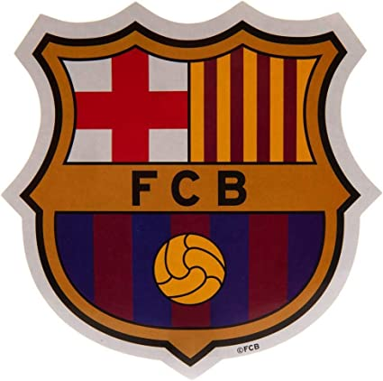 F C Barcelona Large Crest Sticker Official Licensed Product Sports Outdoors