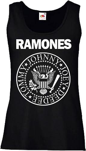 LaMAGLIERIA Camiseta de Tirantes Mujer Ramones - 100% algodòn: Amazon.es: Ropa y accesorios