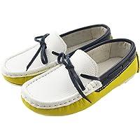 IDIFU Big Boys' Leather Loafers Sandals