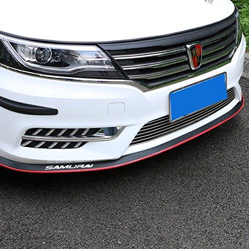 HengJia Auto Parts Universal fit Car front bumper spoiler lip ,Splitter Side Skirt Roof Spoiler ,100% waterproof protection(2.5 meters, Black red edge)… - Edge Spoiler