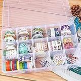 SGHUO 15 Large Compartments Plastic Organizer Box