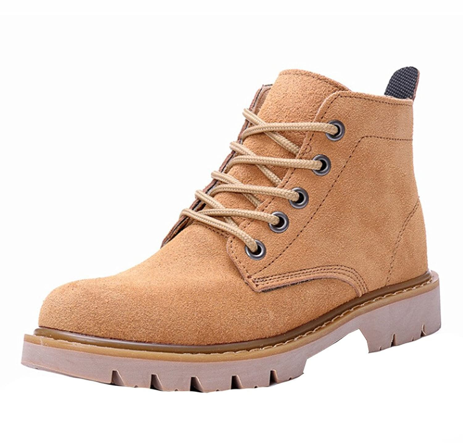Women's Combat Genuine Leather Lace up Martin Boot Waterproof Hiking Work Ankle Boot