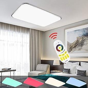 Hengda® LED Deckenleuchte RGB Mit Fernbedienung Lichtfarbe und ...