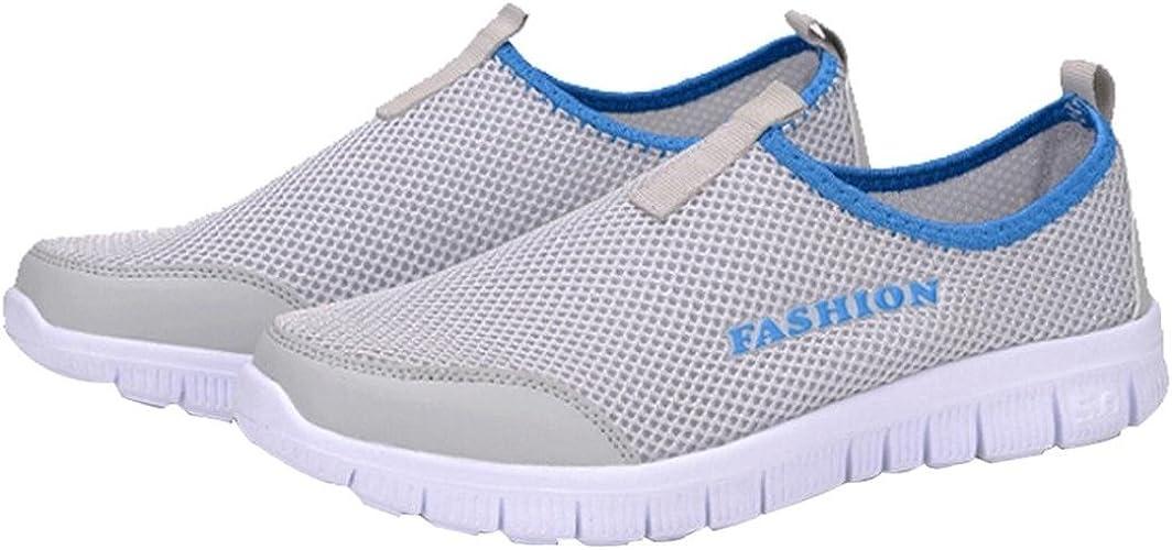 Cinnamou Zapatillas Respirable Mujeres, Calzado Casuales De los Mujeres Zapatillas Running Mujer Zapatillas Deportivas Hombre de Cordones en Gimnasio (39 EU, Gris): Amazon.es: Zapatos y complementos