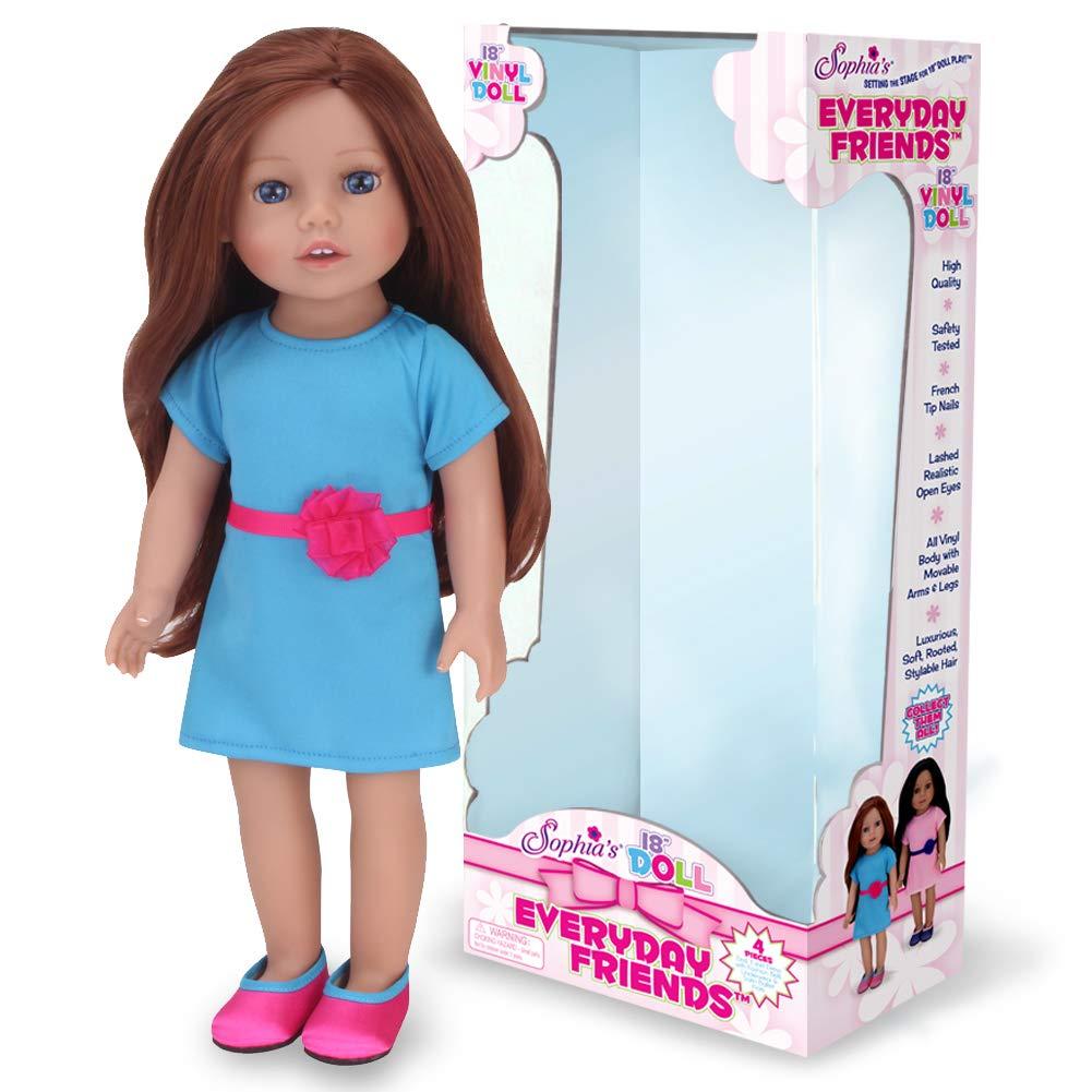 Sophia's Auburn Doll 18インチ ビニール人形 ティールドレスとホットピンクの靴付き   B07B5HWXJ7