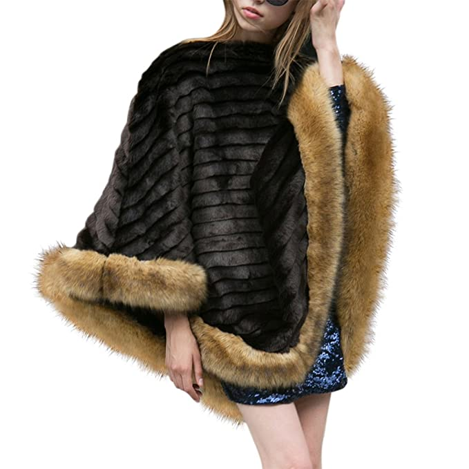 iBaste Abrigos de Pelo para Mujer Chal para Manta de Perchero Estilo del Suéter del Otoño y el Invierno para Mujer Talla Única: Amazon.es: Ropa y accesorios