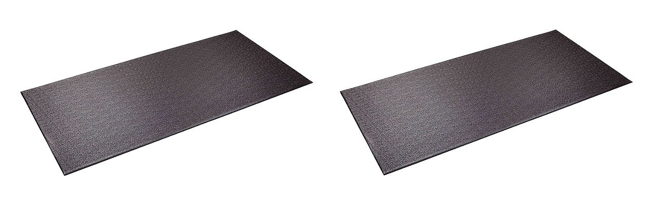 SuperMats Heavy Duty P.V.C. Mat for Cardio- Fitness Products (2.5-Feet x 5-Feet) (Pack of 2)
