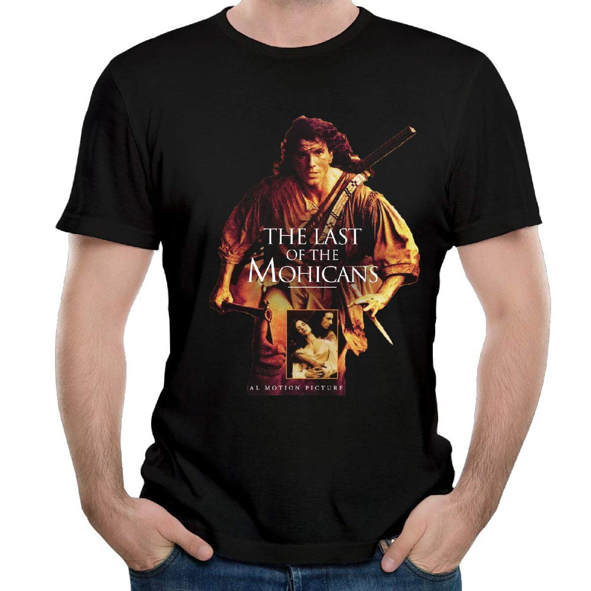Prp966 The Last Of The Mohiicans Movies For Mens Contton Black Shirts